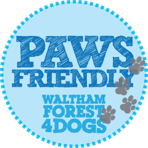 PAWS friendly window sticker copy